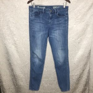 Madewell Skinny Ankle Washed Jeans Size 28